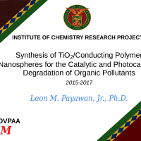 RESEARCH PROJECT: Synthesis of TiO2/Conducting Polymer Nanospheres for the Catalytic and Photocatalytic Degradation of Organic Pollutants