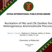 OVPAA INTERNATIONAL PUBLICATION AWARD CHEMISTRY OF MATERIALS