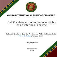 OVPAA INTERNATIONAL PUBLICATION AWARD BIOPOLYMERS